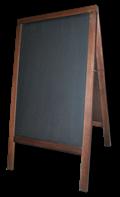 Штендер для мела деревянный, двусторонний 120 х 60 см