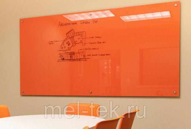 Стеклянная магнитно-маркерная доска 100 х 200 см