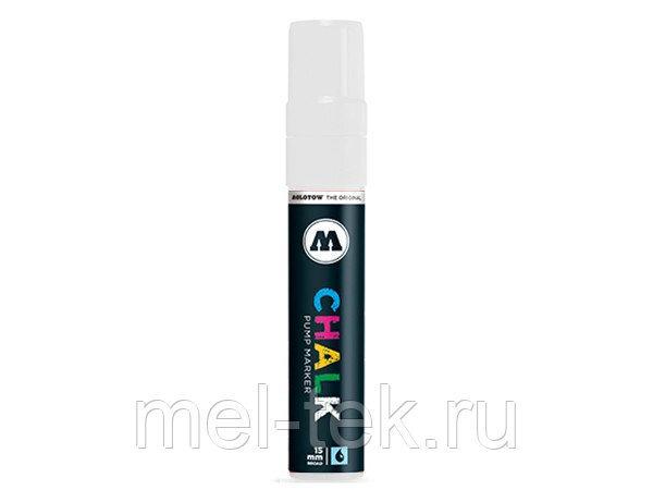 Маркер меловой MOLOTOW CHALK 15мм, белый