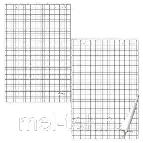 Блокноты для флипчарта BRAUBERG, 20 л., клетка, 67,5х98 см, 80 г/м2