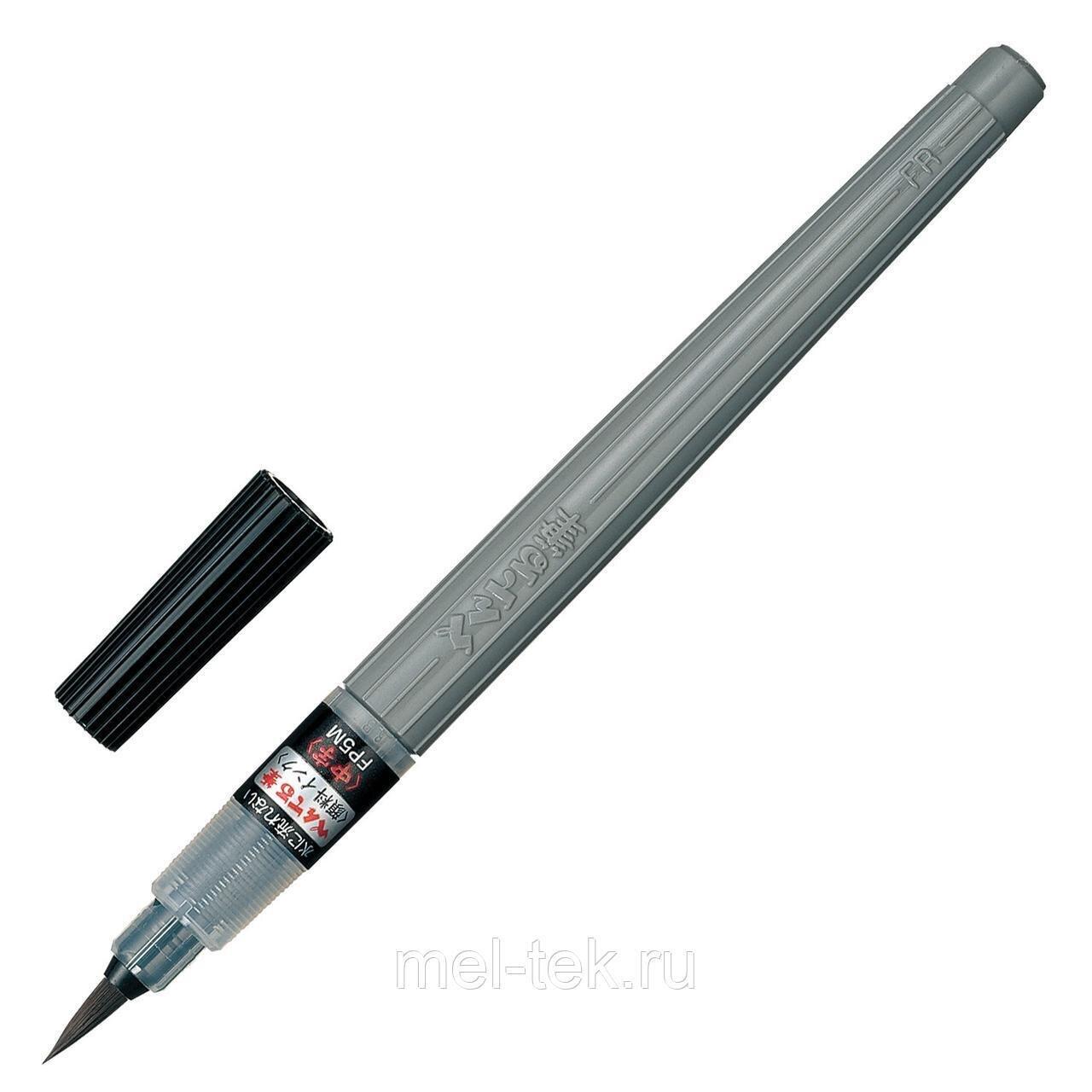 """Кисть художественная PENTEL (Япония) """"Brush Pen"""", картридж, блистер."""