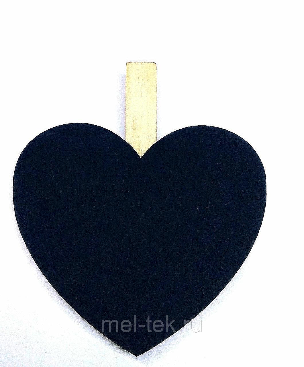 """Ценник меловой на прищепке  """"Сердце"""""""