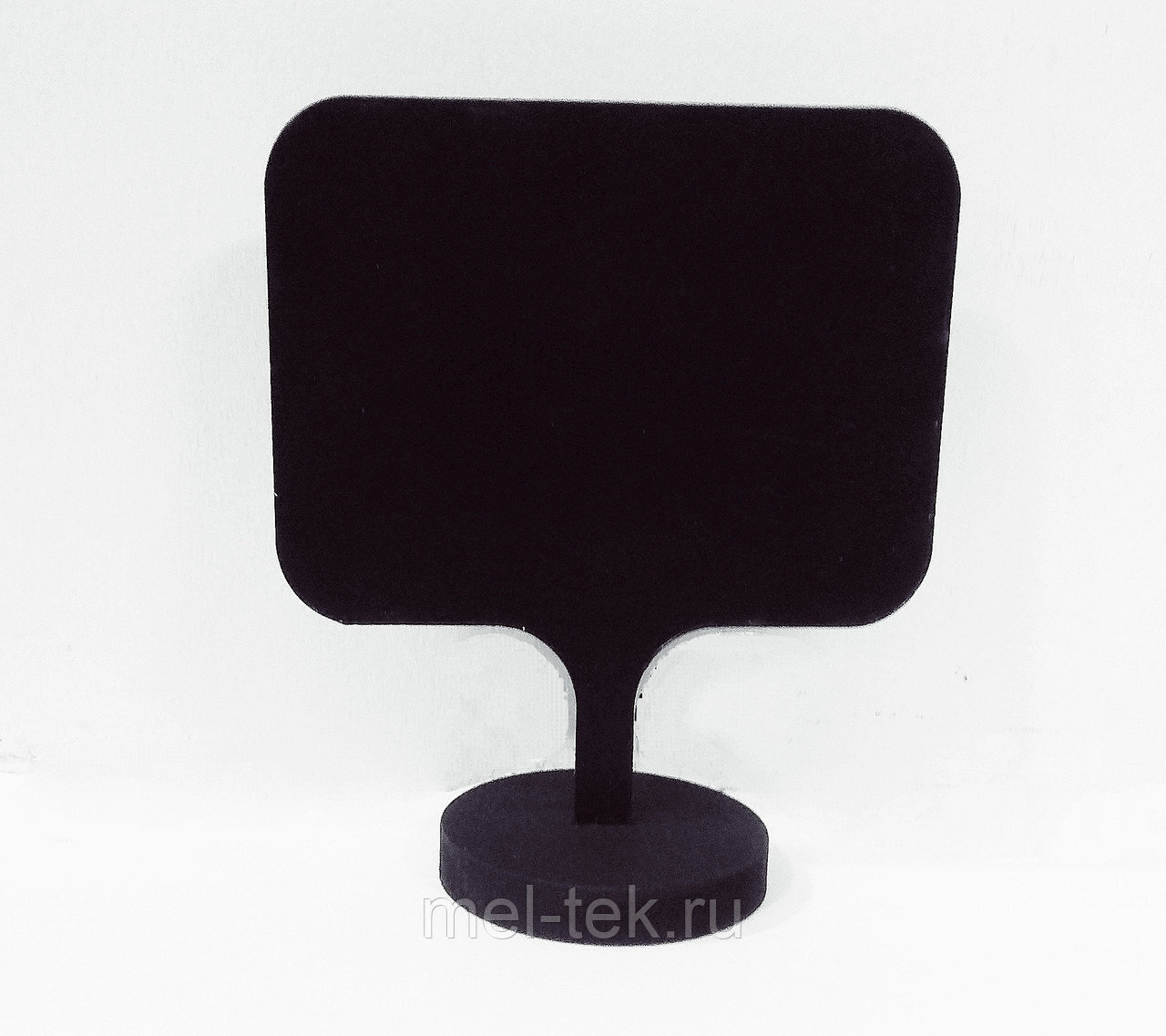 Ценник пластиковый на круглом основании 55*70 мм
