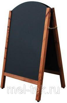 Штендер для мела деревянный, двусторонний 100 х 60 см арочный