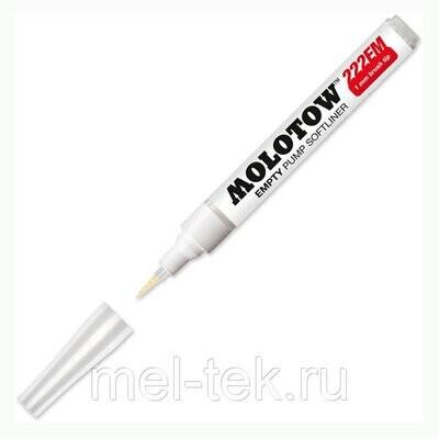 Маркер под заправку(кисть) MOLOTOW, 222ЕМ 1мм