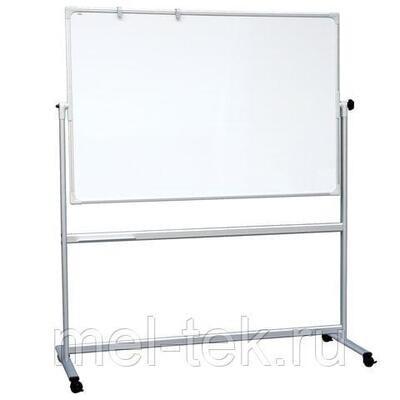 Передвижная поворотная доска для маркера с зажимами для бумаги 2х3 OFFICE 150 х 100 см