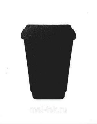"""Ценник пластиковый """"Кофейный стакан"""" 55 х 75 мм"""