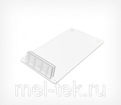 Держатель ценника пластиковый под углом 75°, прозрачный
