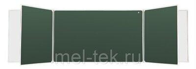 Пятиэлементные доски для мела и маркера, комби 340 х 100 см