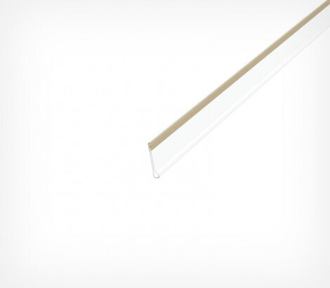 Ценникодержатель полочный самоклеящийся высотой 20 мм