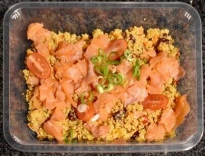 Quinoa salade met zalm