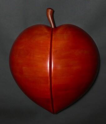 Peach Perfect Pear Wall Sculpture