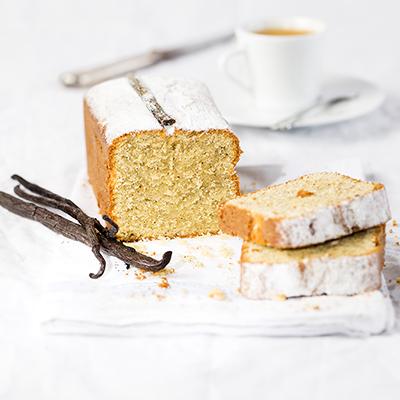 Cake aux trois vanilles