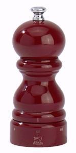 Moulin à poivre Paris 12 cm Peugeot en bois rouge laqué avec système uSelect
