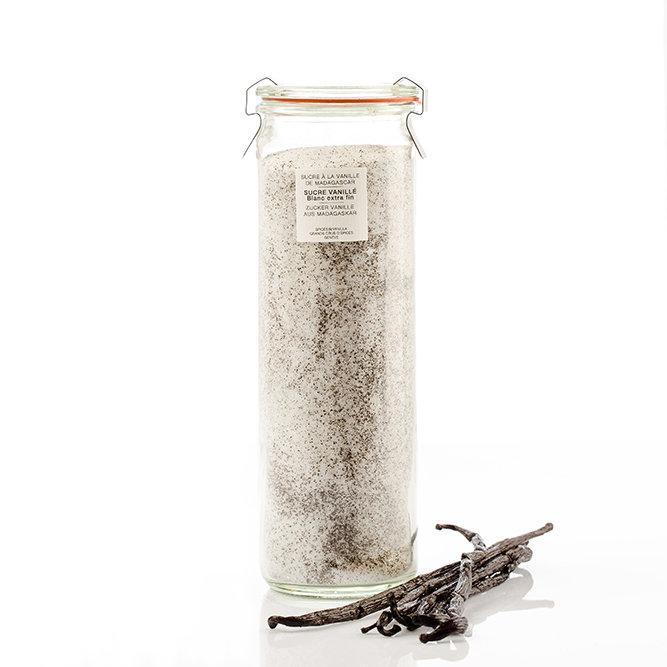 Sucre extra fin à la vanille de Madagascar, pot verre WECK 450 g