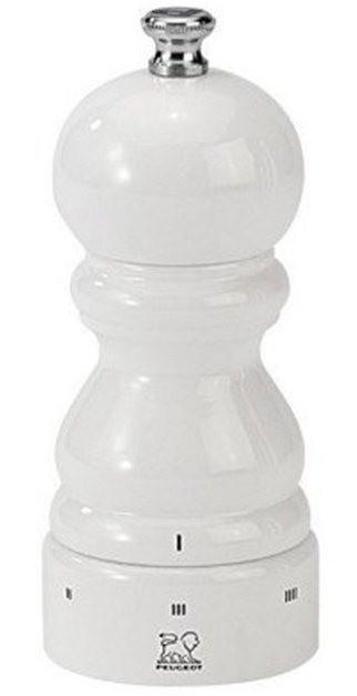 Moulin à sel Paris 12 cm Peugeot en bois blanc laqué avec système uSelect