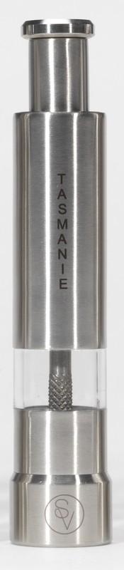 Poivrier à pression 14 cm en métal gravé S&V TASMANIE
