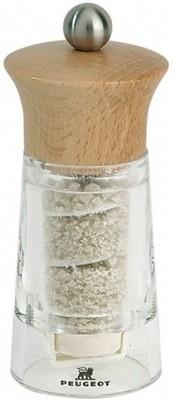 Moulin à fleur de sel Guérande 12 cm Peugeot en bois clair