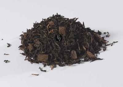 Thé noir de Ceylan à la vanille de Madagascar, sachet zip de 100 g