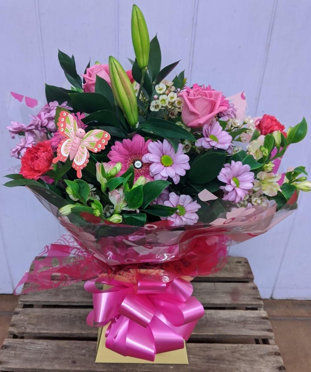 Pink Blossom Handtied