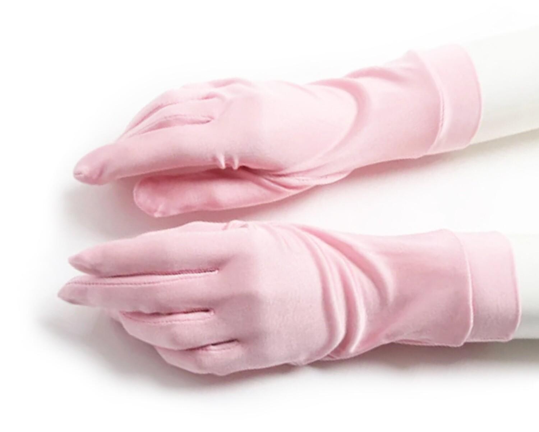 Перчатки шелковые M трикотаж цвет розовый