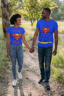 Superman and Supergirl Couple's Tees