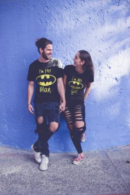Batman and Bat Girl Couple's Tees