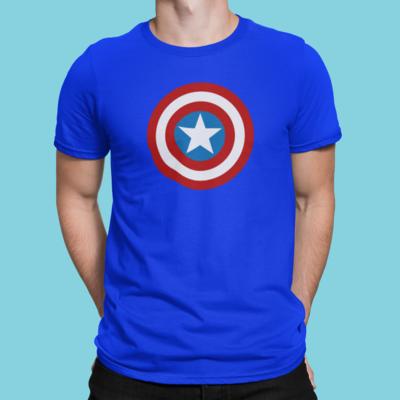 Plain Captain Amercia  Shirt