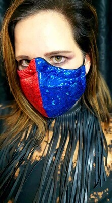 Blue and Red Harley Masks
