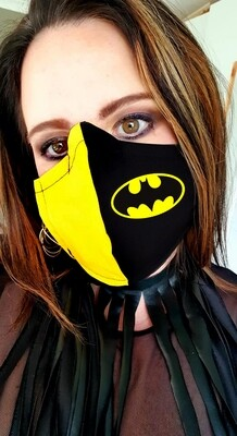 Black and Yellow Batman Mask
