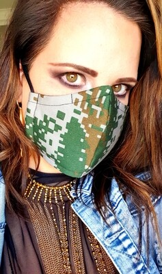 Pixelated Camo Mask