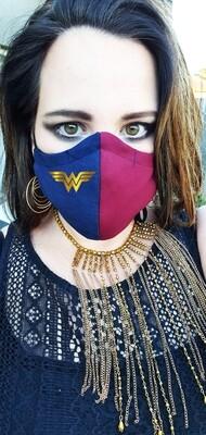 Navy and Maroon Wonder Woman Mask