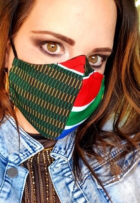 South African Flag Mask