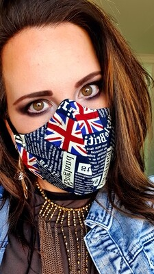 Union Jack Newspaper Mask