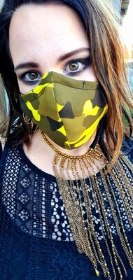 Yellow Camo Mask