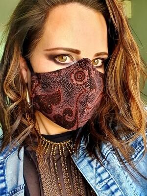 Rust Glitter Premium Mask