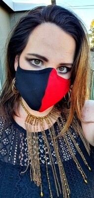 Red and Black Mask