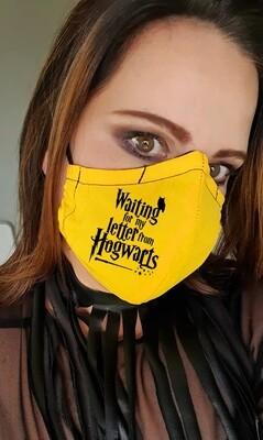 Hogwarts letter yellow Mask