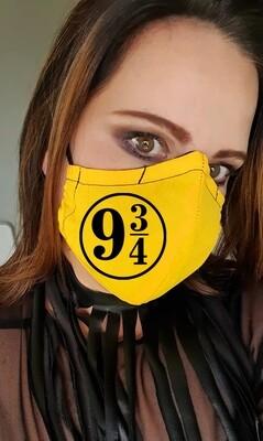 Platform 9 and 3/4 Yellow and Black Mask