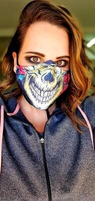 Rose Skull Sublimation Mask