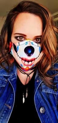 Skin Tone Sugar Skull Sublimation Mask