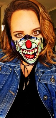 Scary Clown Sublimation Mask