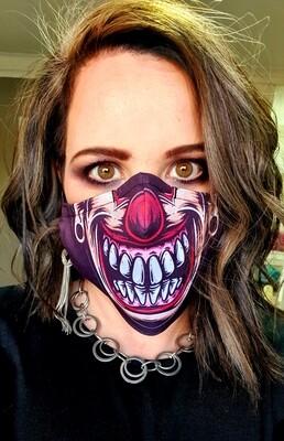 Crazy Clown Smile Sublimation Mask