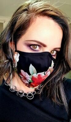 Black Flower Mask
