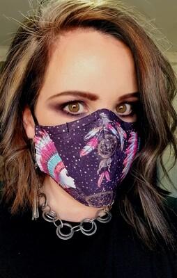 Black Boho Sublimation Mask