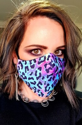 Neon Animal Print Sublimation Mask
