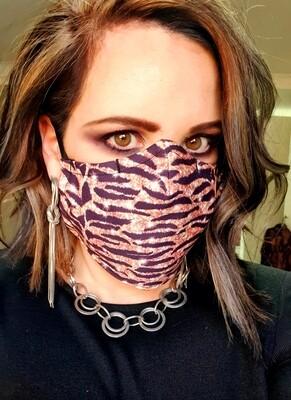 Glitter Animal Print Sublimation Mask