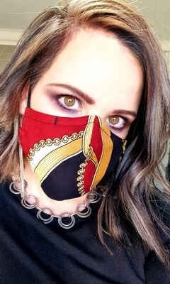Red and Gold Chain Mask