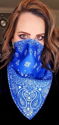 Unisex Blue Bandana Mask