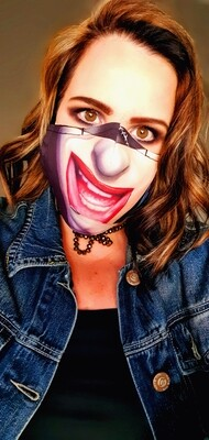 Catwoman Smile Sublimation Mask